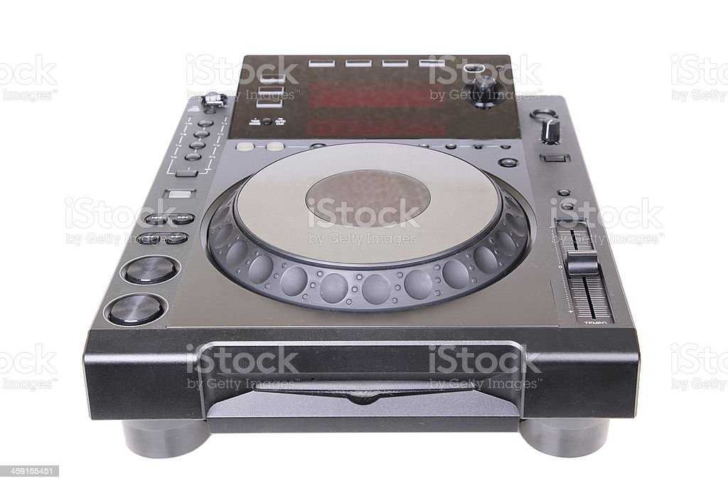 Dj cd player stock photo