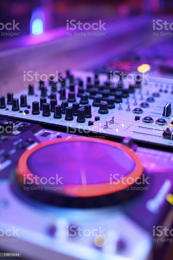 Dj Consol royalty-free stock photo