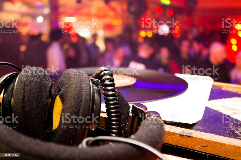 dj headset stock photo