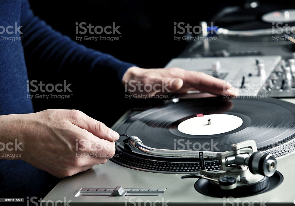 Dj in the mix stock photo