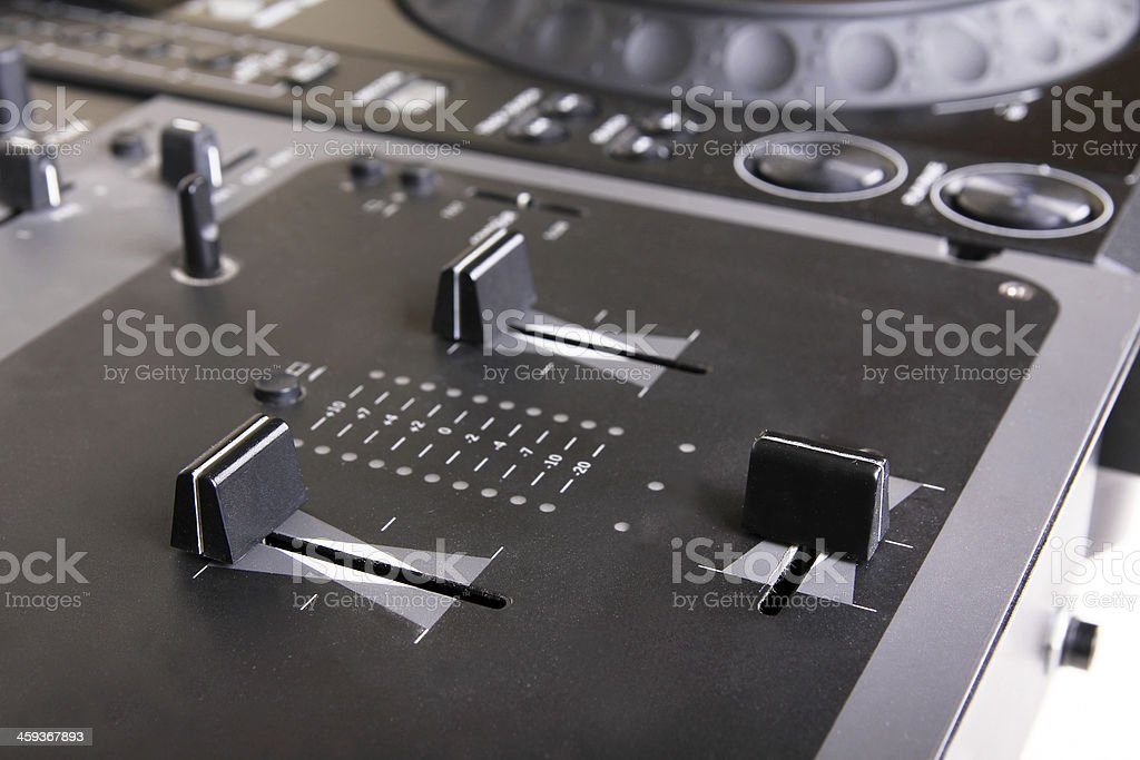 Dj mixer and cd player stock photo