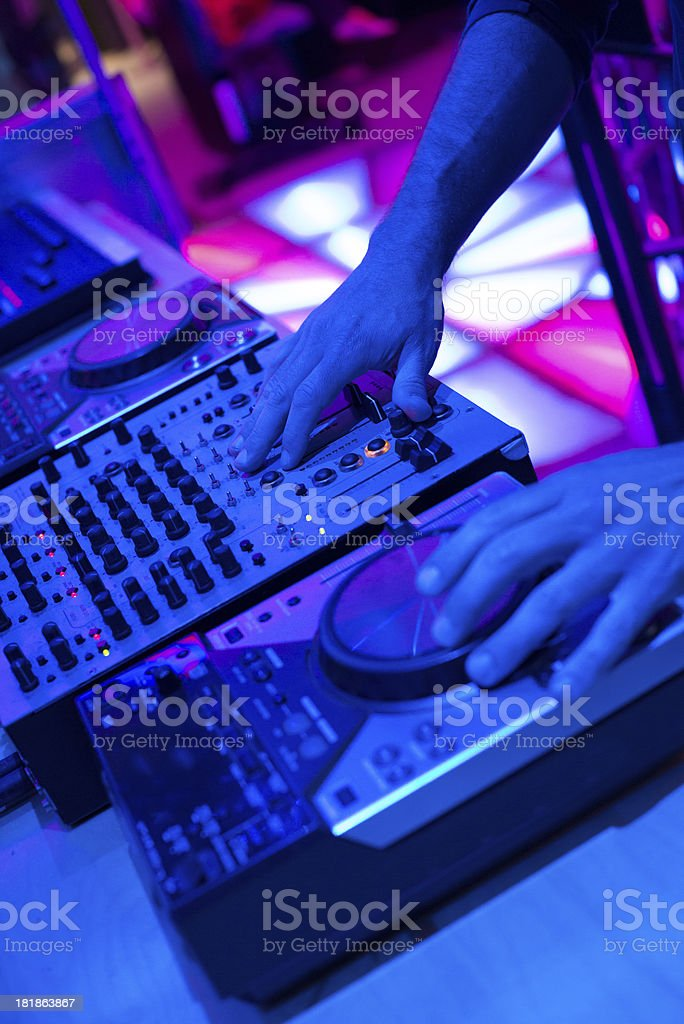 Dj Mixer Consolle in Disco royalty-free stock photo