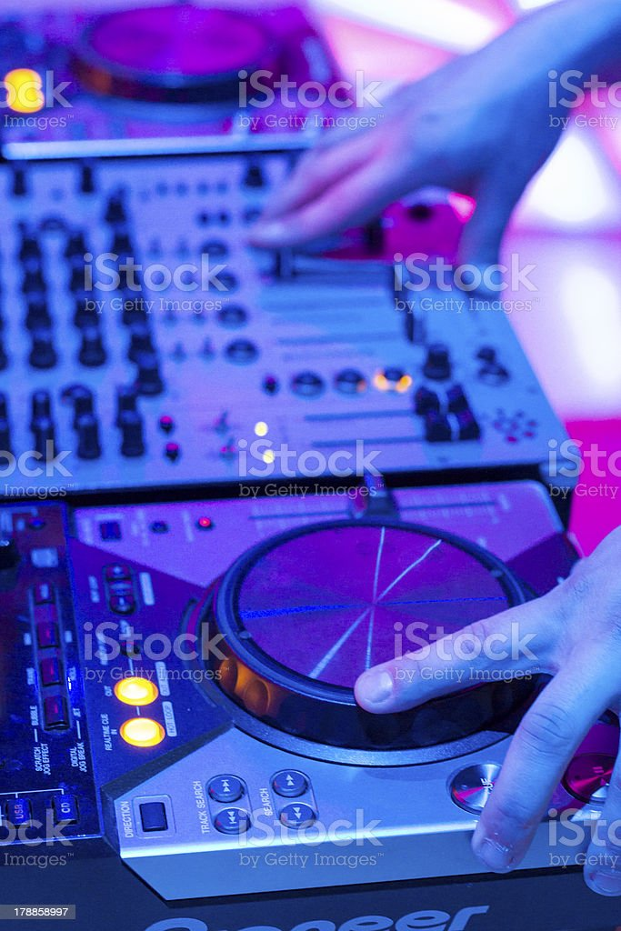 Dj Mixer Consolle royalty-free stock photo