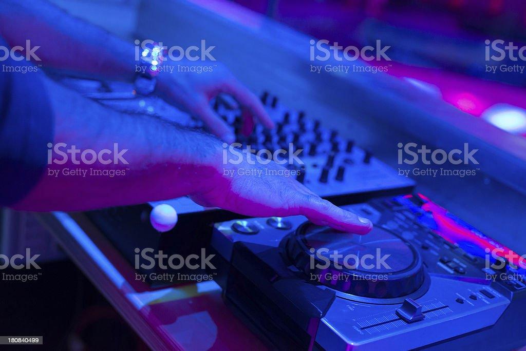 Dj mixes for nighttime disco. royalty-free stock photo