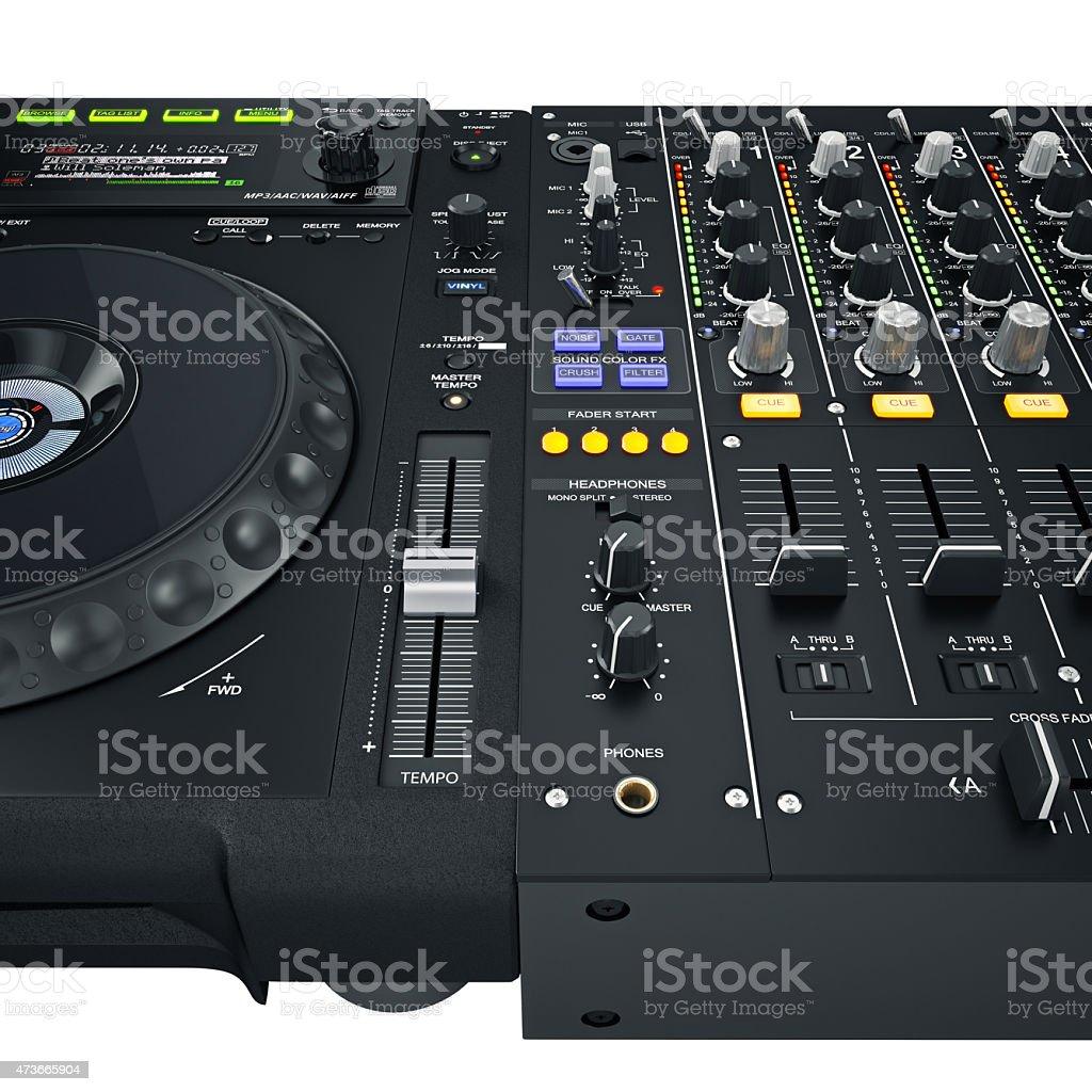 Dj set controls stock photo