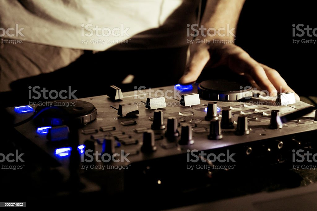 Dj work stock photo