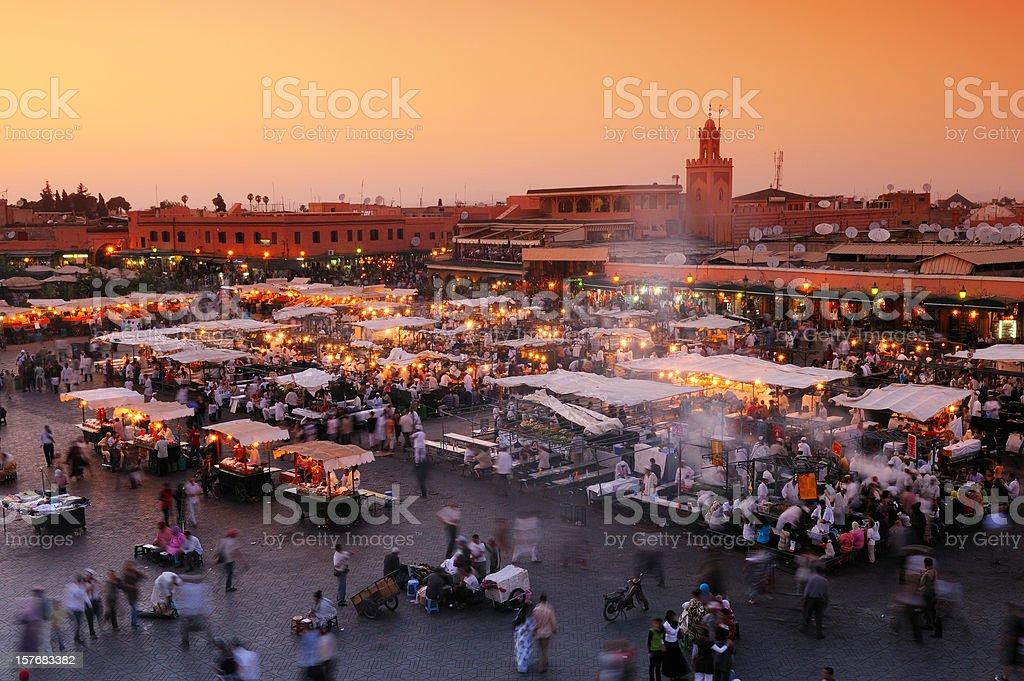 Djemaa El Fna, Marrakech, Morocco stock photo