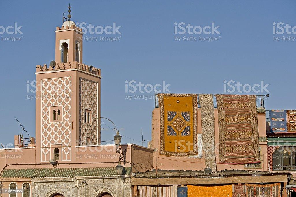 Djemaa el Fna, Marrakesh, Morocco stock photo