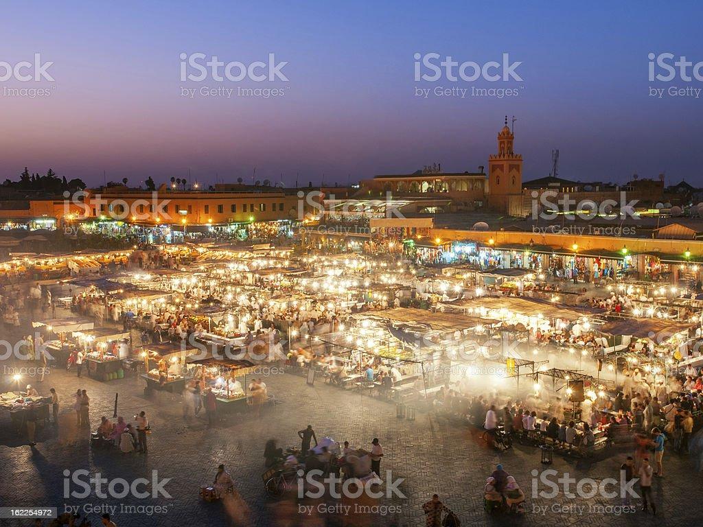 Djemaa El Fna Square, Marrakech, Morocco royalty-free stock photo