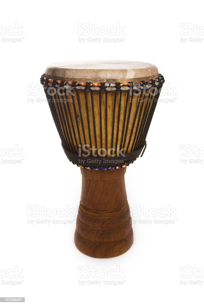 Djembe Drum Isolated on White royalty-free stock photo
