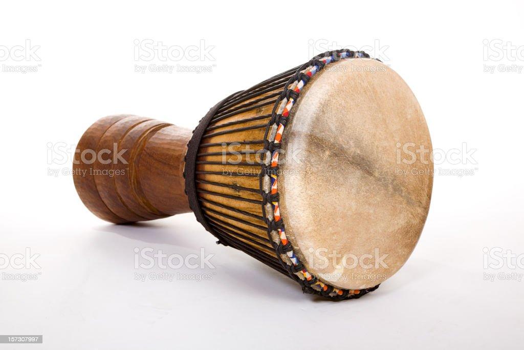 Djembe Drum on White stock photo