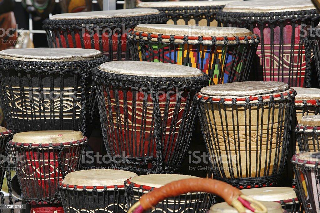 Djembe Drums landscape royalty-free stock photo