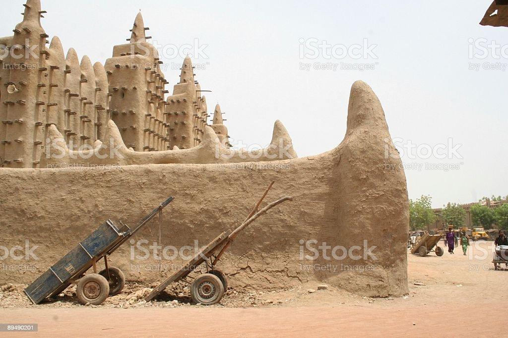 Djenné great mosque stock photo