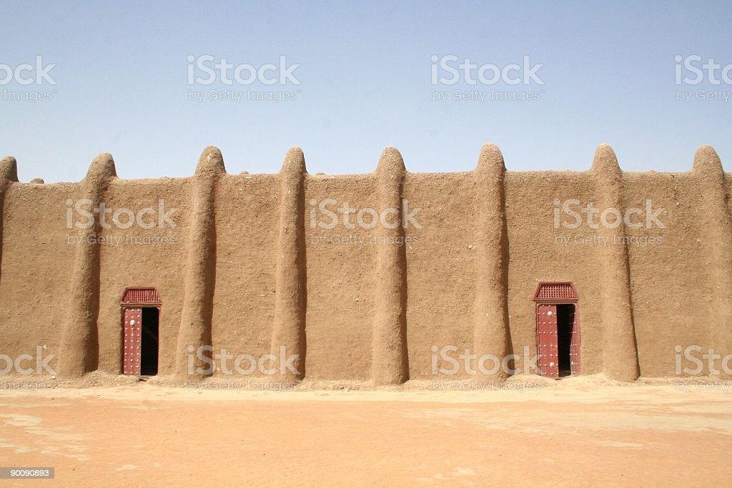 Djennè great mosque stock photo