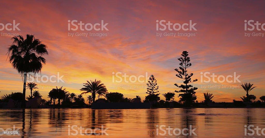 Djerba at Dawn stock photo