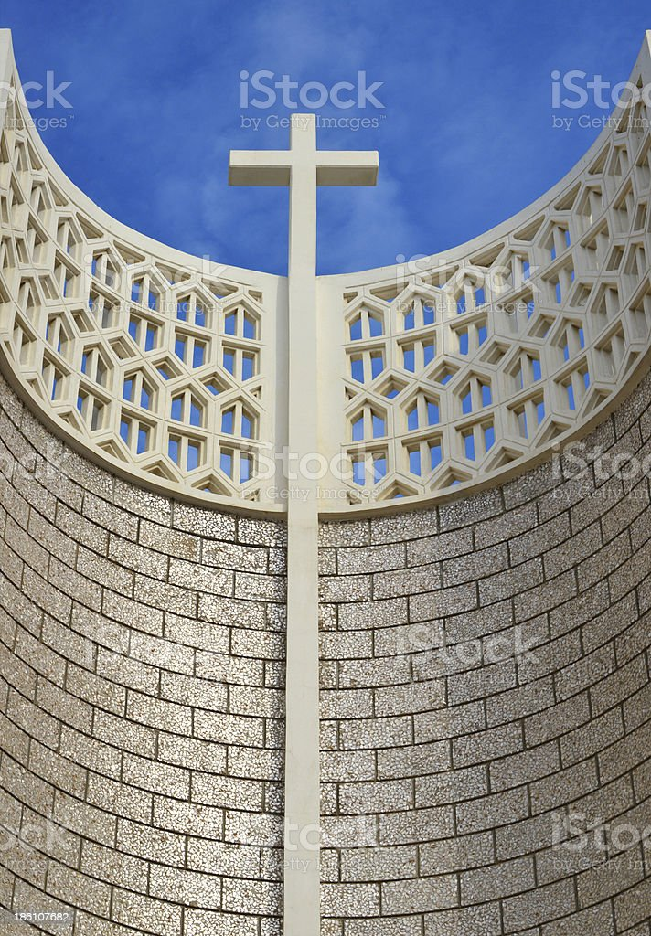 Djibouti: Catholic Our Lady of the Good Shepherd Cathedral royalty-free stock photo