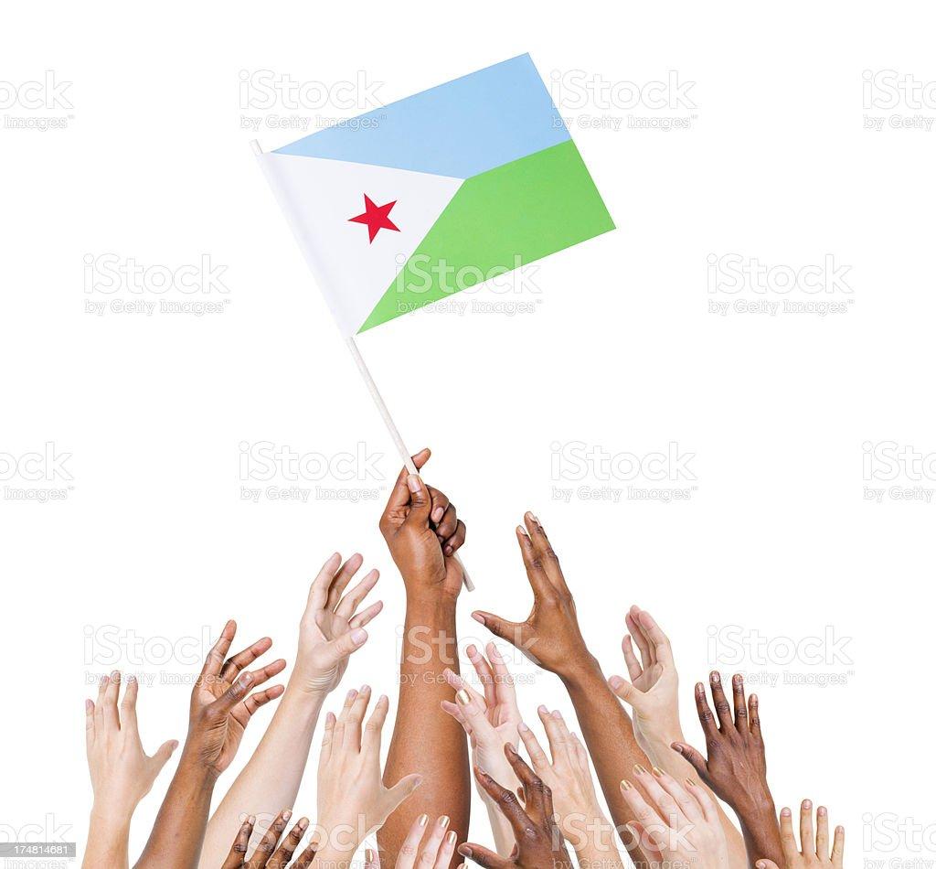 Djibouti Flag stock photo