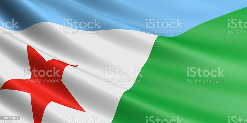 Djibouti flag. royalty-free stock photo