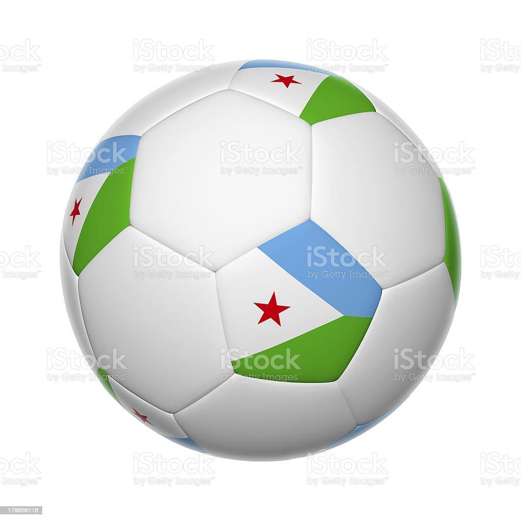 Djibouti soccer ball royalty-free stock photo