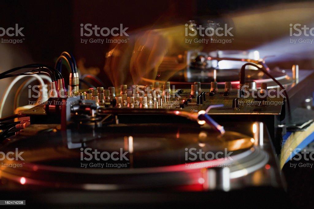 DJing royalty-free stock photo