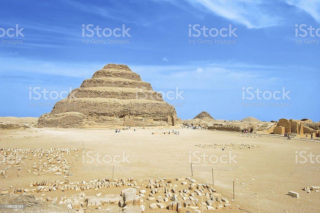 Djoser pyramid at Saqqara (Egypt, Africa) stock photo
