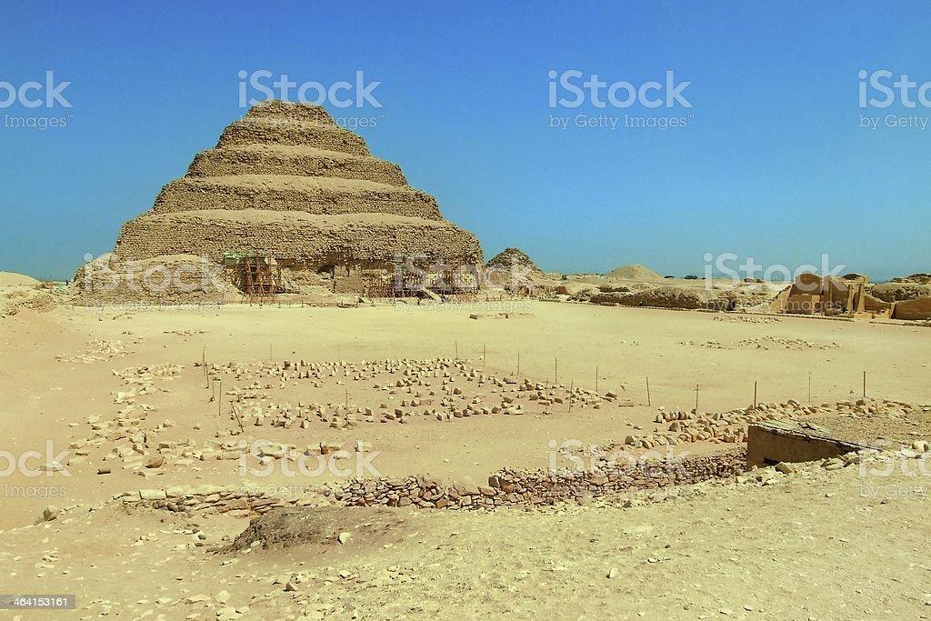 Djoser step pyramid stock photo