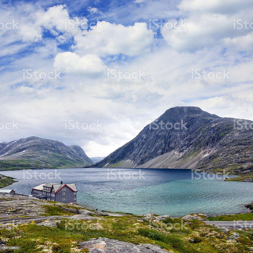Djupvatnet lake, Norway stock photo