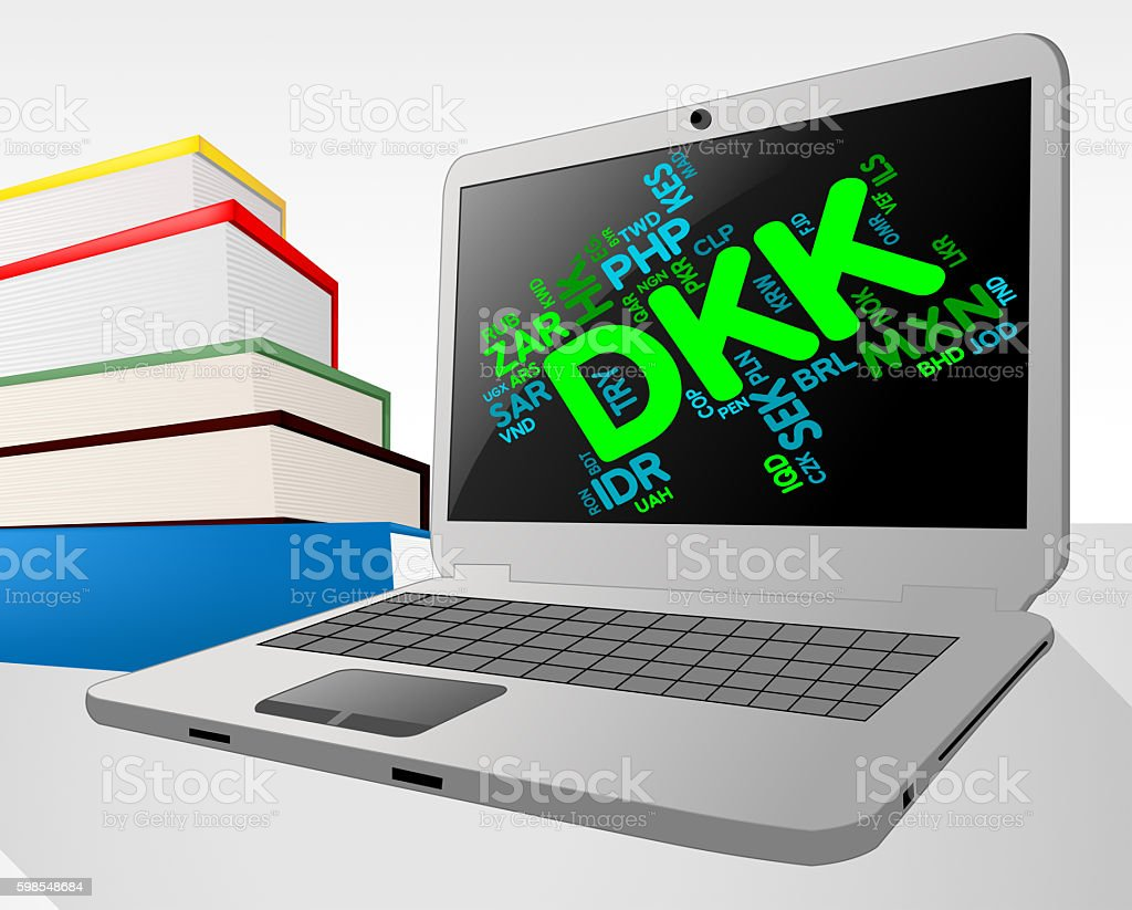 Dkk Currency Means Worldwide Trading And Coinage stock photo