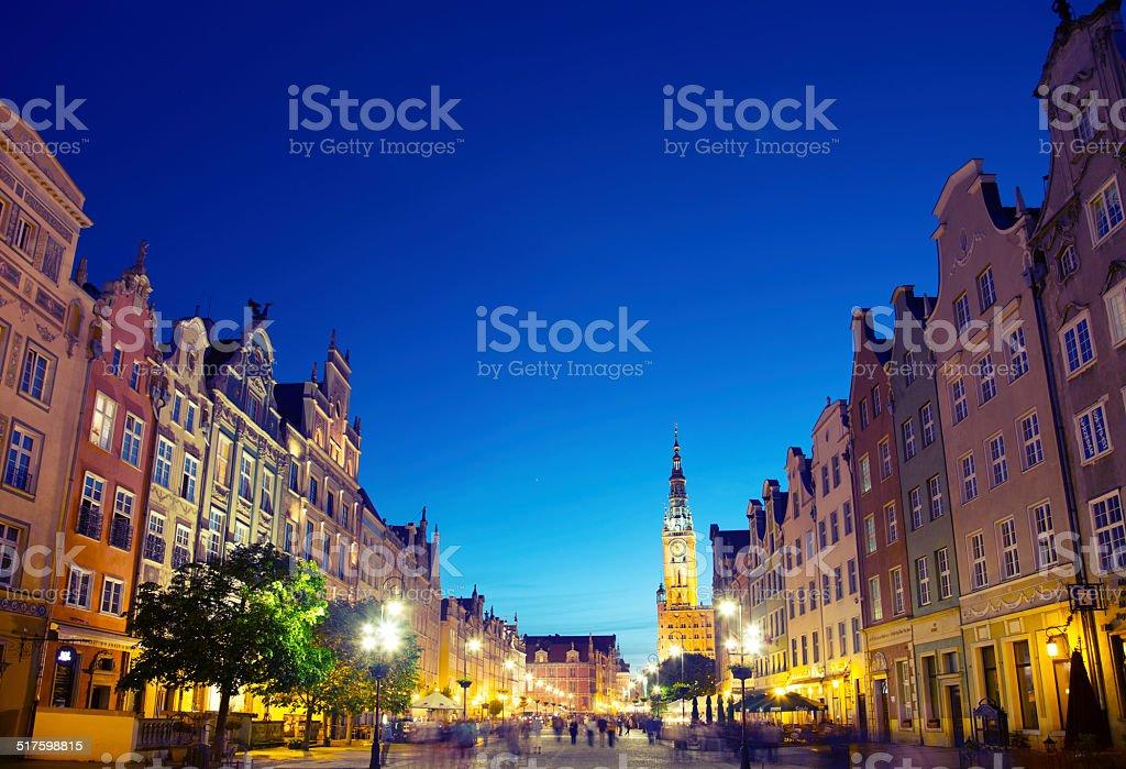 Dluga street, Gdansk stock photo
