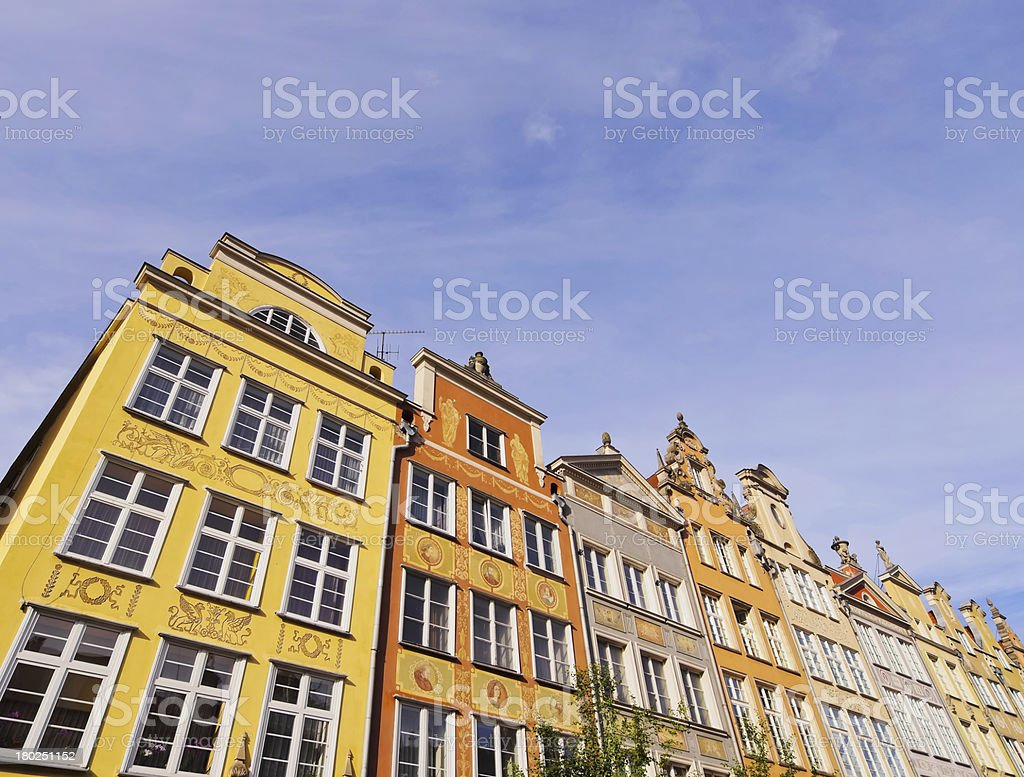 Dlugi Targ Street in Gdansk, Poland royalty-free stock photo