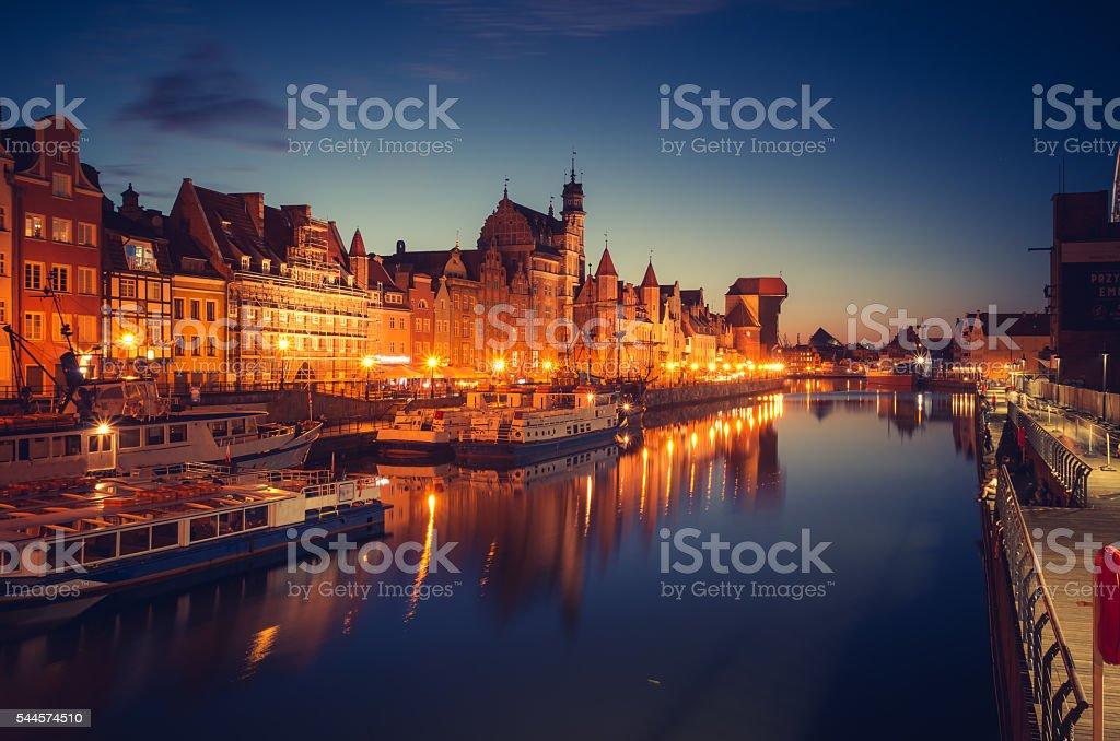 Dlugie Pobrzeze, historical waterfront, Gdansk, Poland stock photo