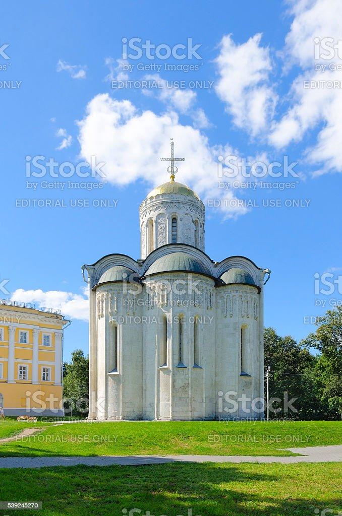 Dmitrievsky (Dmitrovsky) Cathedral in Vladimir, Golden Ring of Russia stock photo
