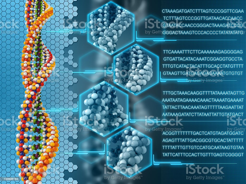 Dna analysis stock photo
