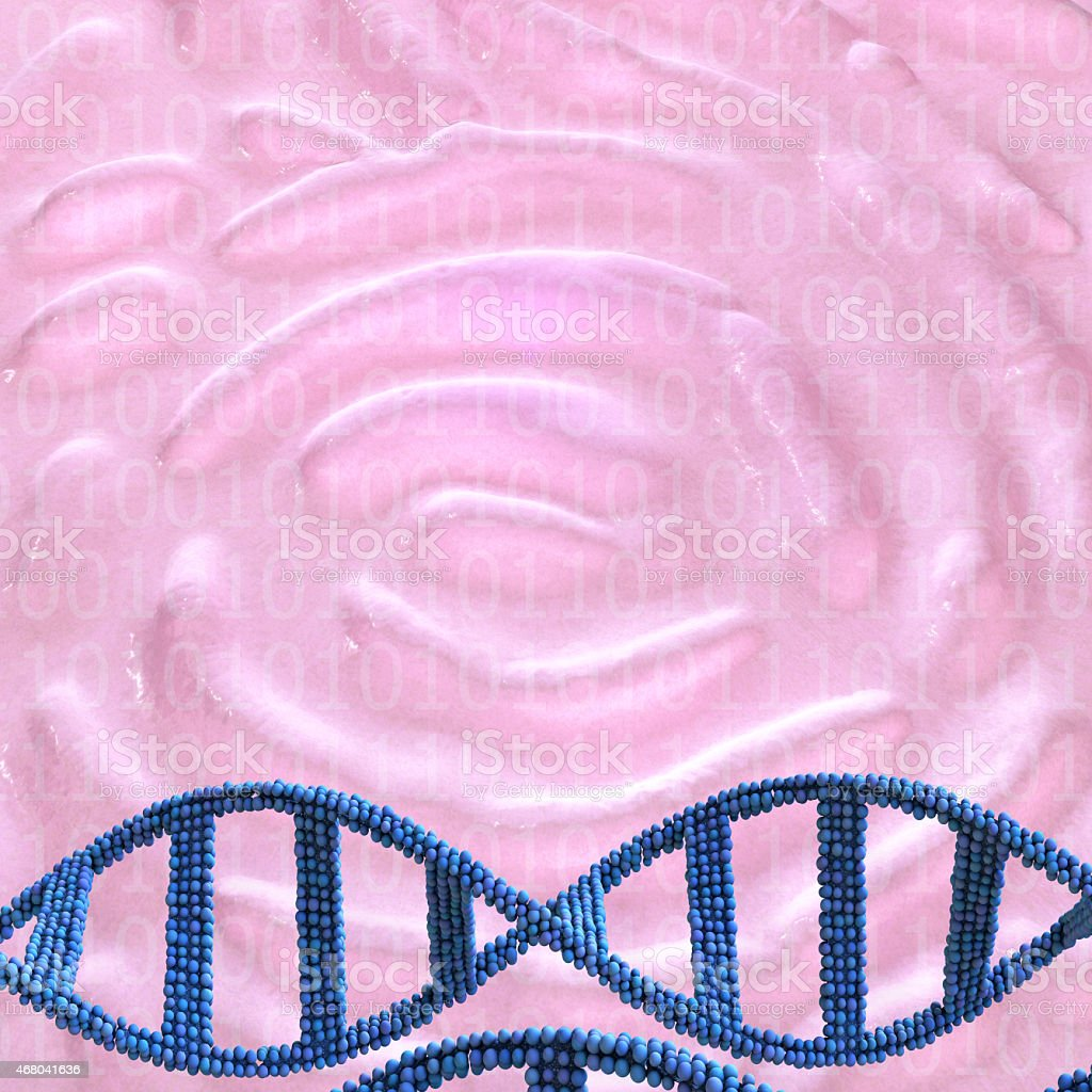 Dna and fingerprint - 3d rendered illustration stock photo