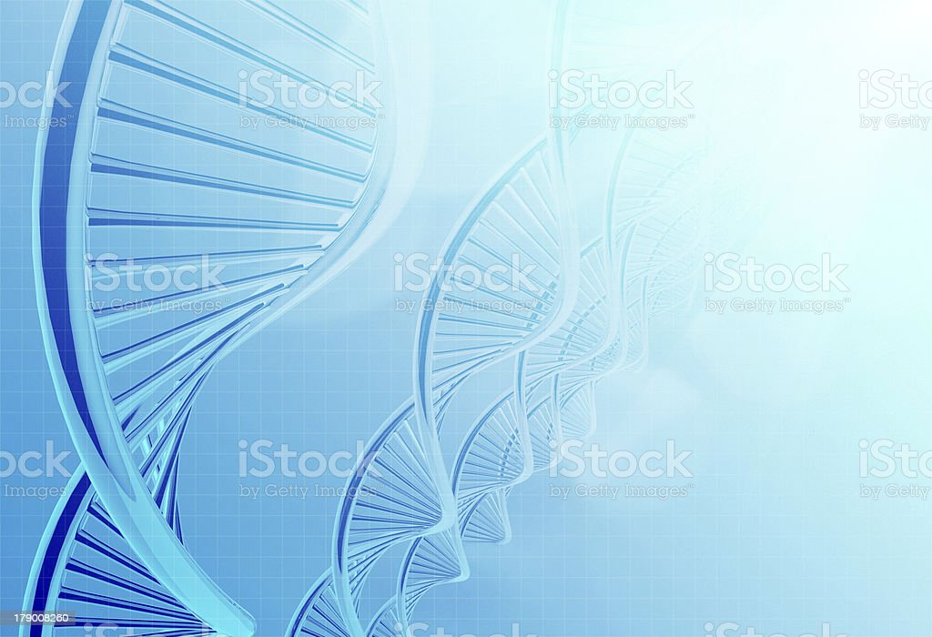 dna in medical colour royalty-free stock photo
