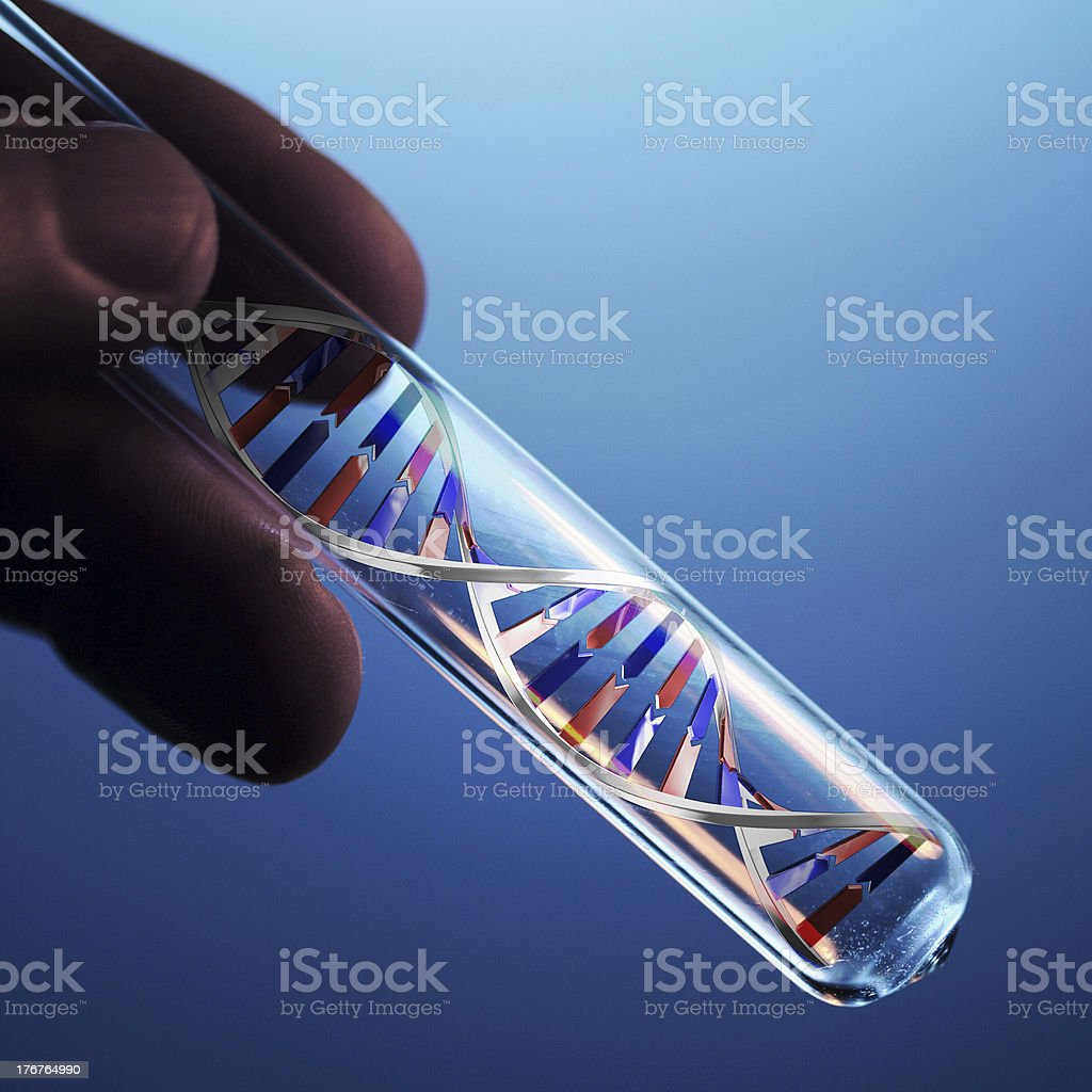 dna molecule in test tube royalty-free stock photo