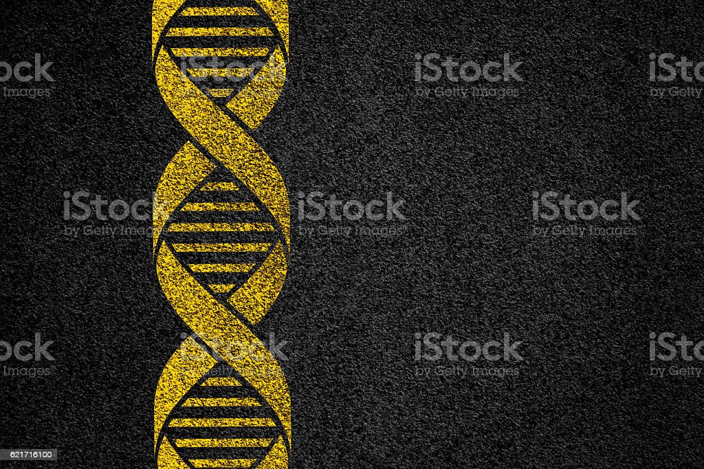dna sign vector art illustration