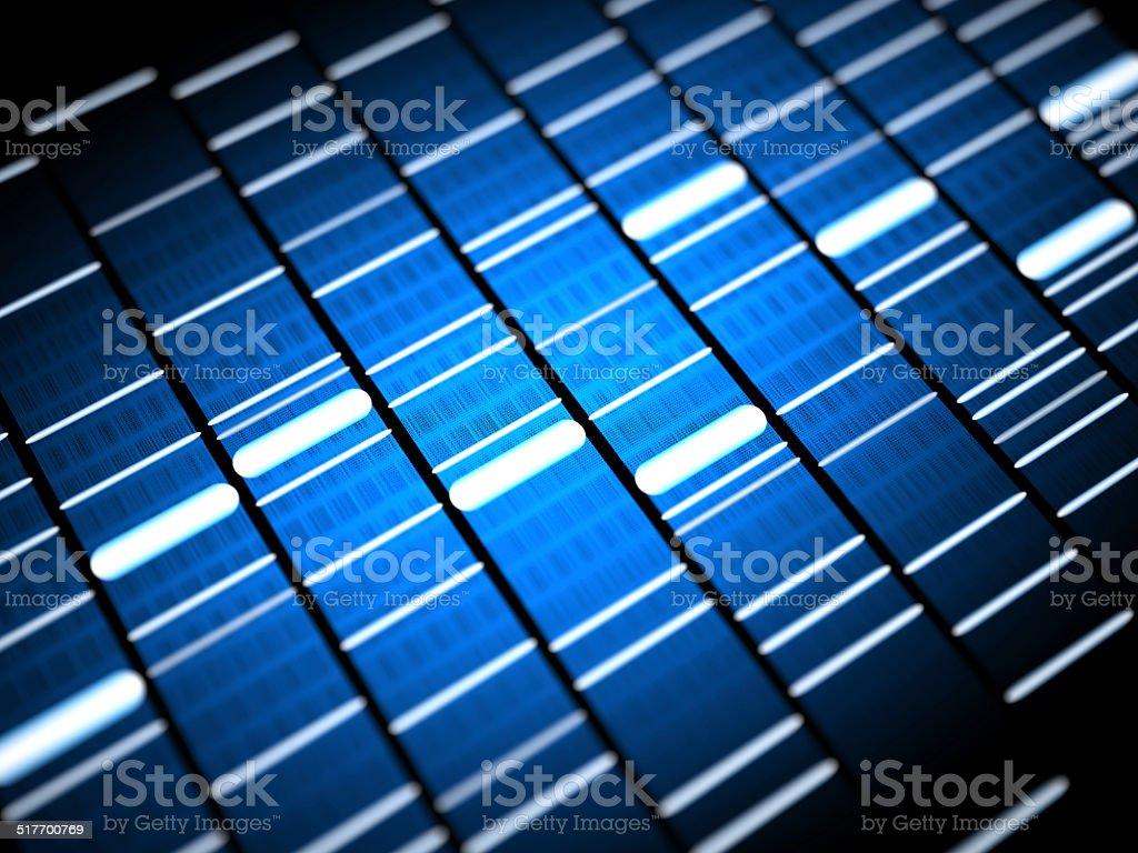 Dna structure fingerprint stock photo