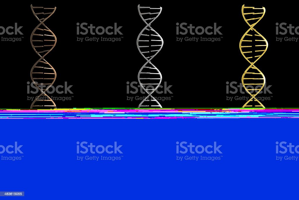Dna trophies (3D) royalty-free stock photo
