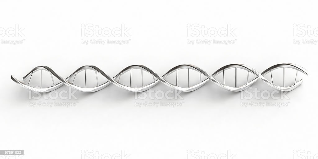 Dna with shadows stock photo