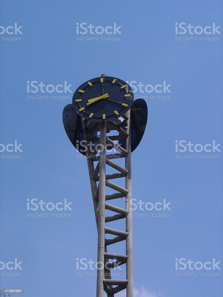 dna-clock royalty-free stock photo