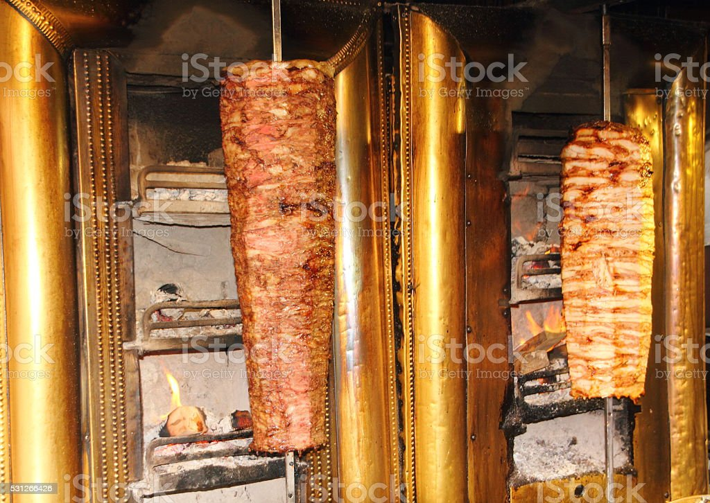 döner kebab pike stock photo