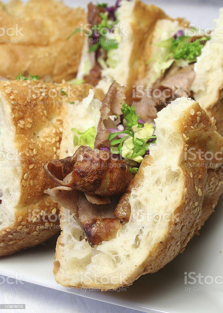 Döner Sandwiches stock photo