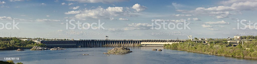 Dnieper Hydroelectric Station stock photo