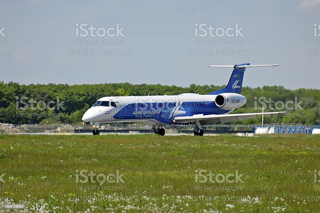 Dniproavia Embraer ERJ-145 stock photo