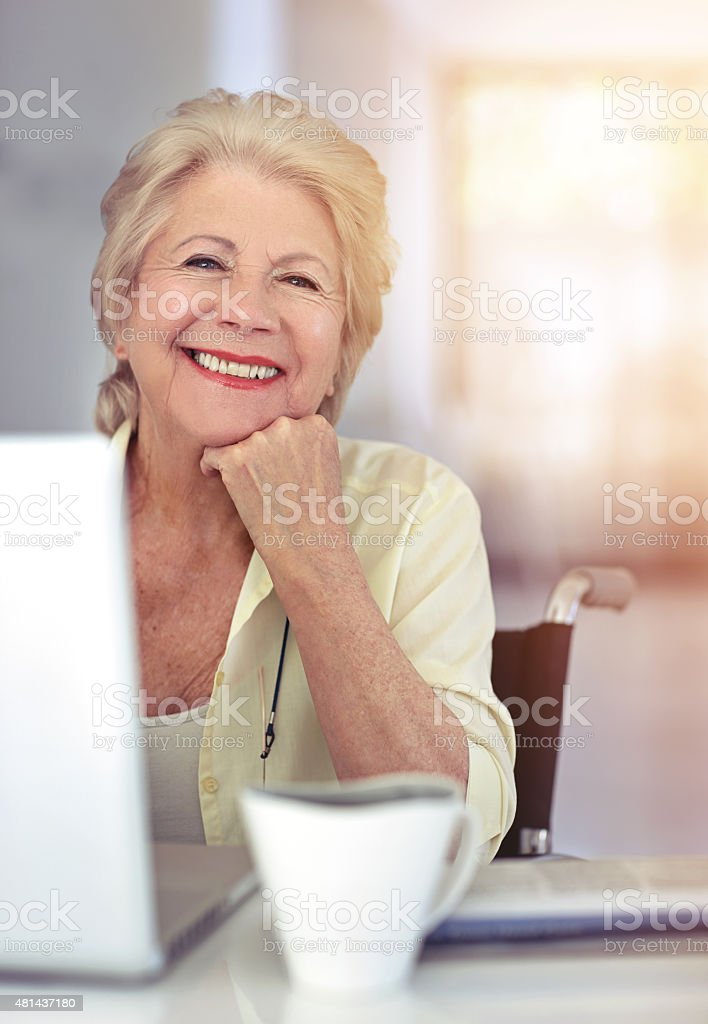 I do all my shopping online- it's so convenient! stock photo