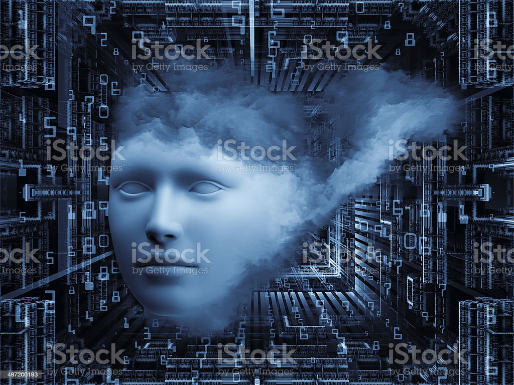 Do Androids Dream of Girls royalty-free stock photo