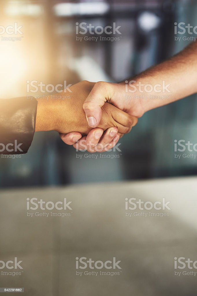 Do business with people you can trust stock photo