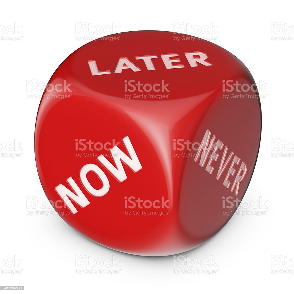 Do it later stock photo