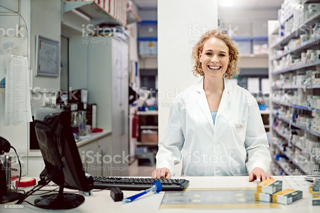 I do it over the counter stock photo